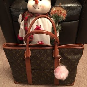 💯 authentic LV vintage sac tote